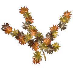 Curtis Jere Style Maple Leaf Wall Sculpture
