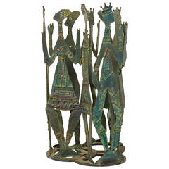 Reimer Iron Sculpture of People in a Circle