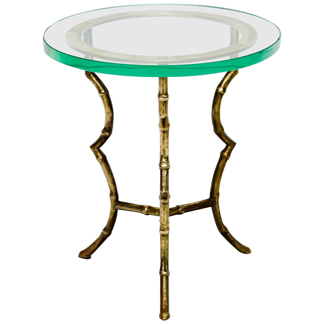 Italian brass faux bamboo side table for sale at 1stdibs for Bamboo side table