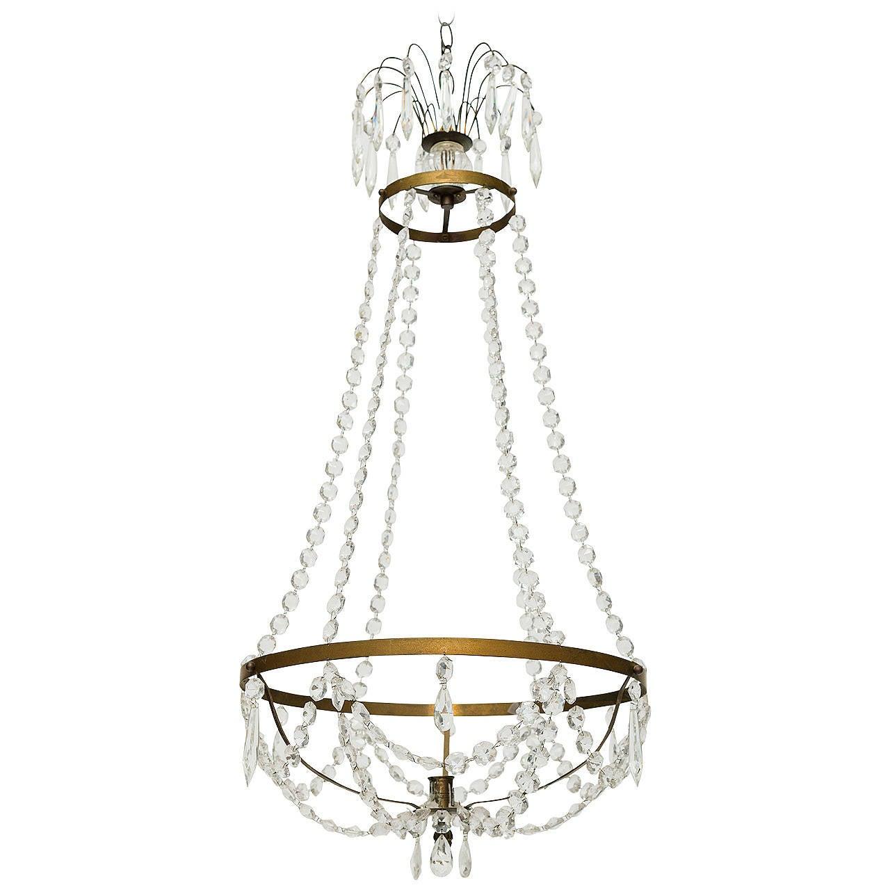 Swedish crystal light fixture at 1stdibs for Swedish light fixtures