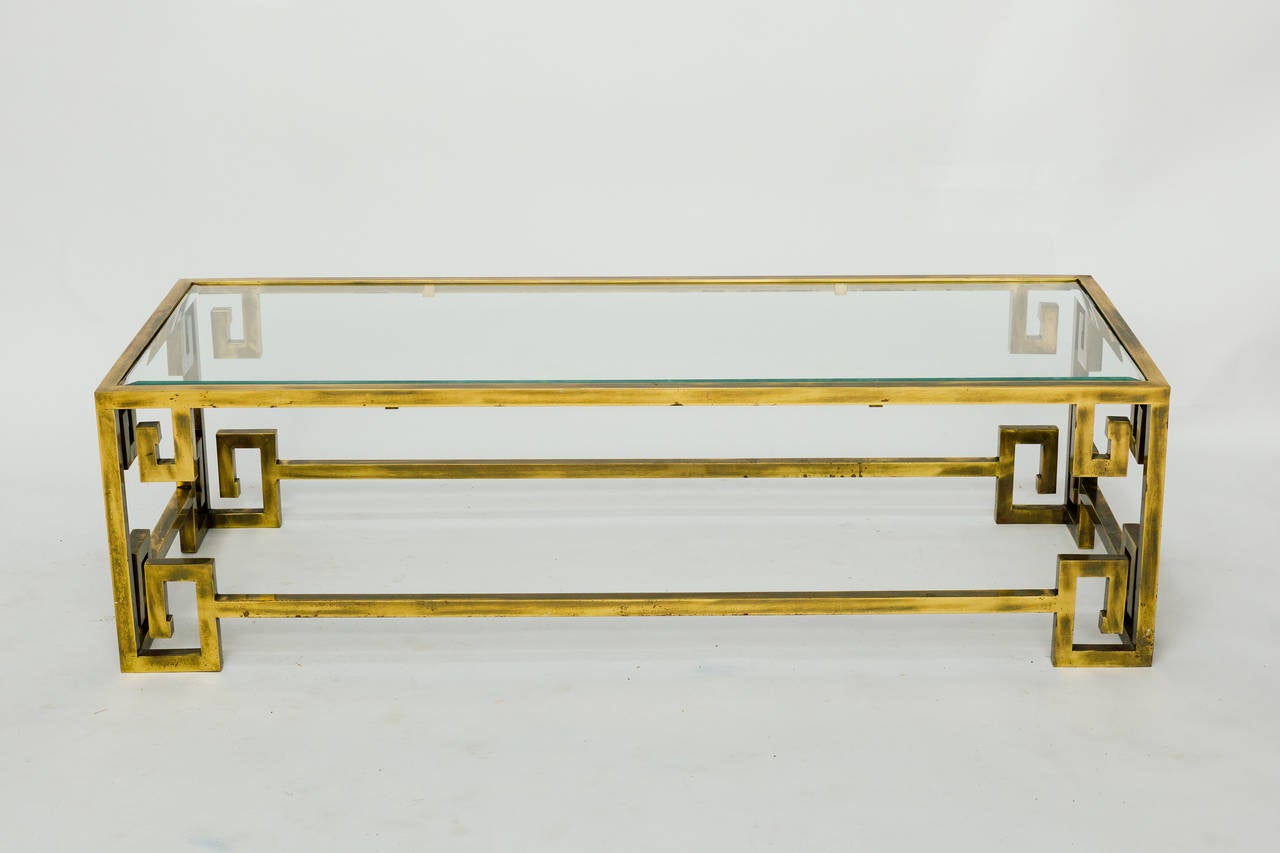 Mastercraft brass greek key coffee table for sale at 1stdibs mastercraft brass greek key coffee table 2 geotapseo Gallery