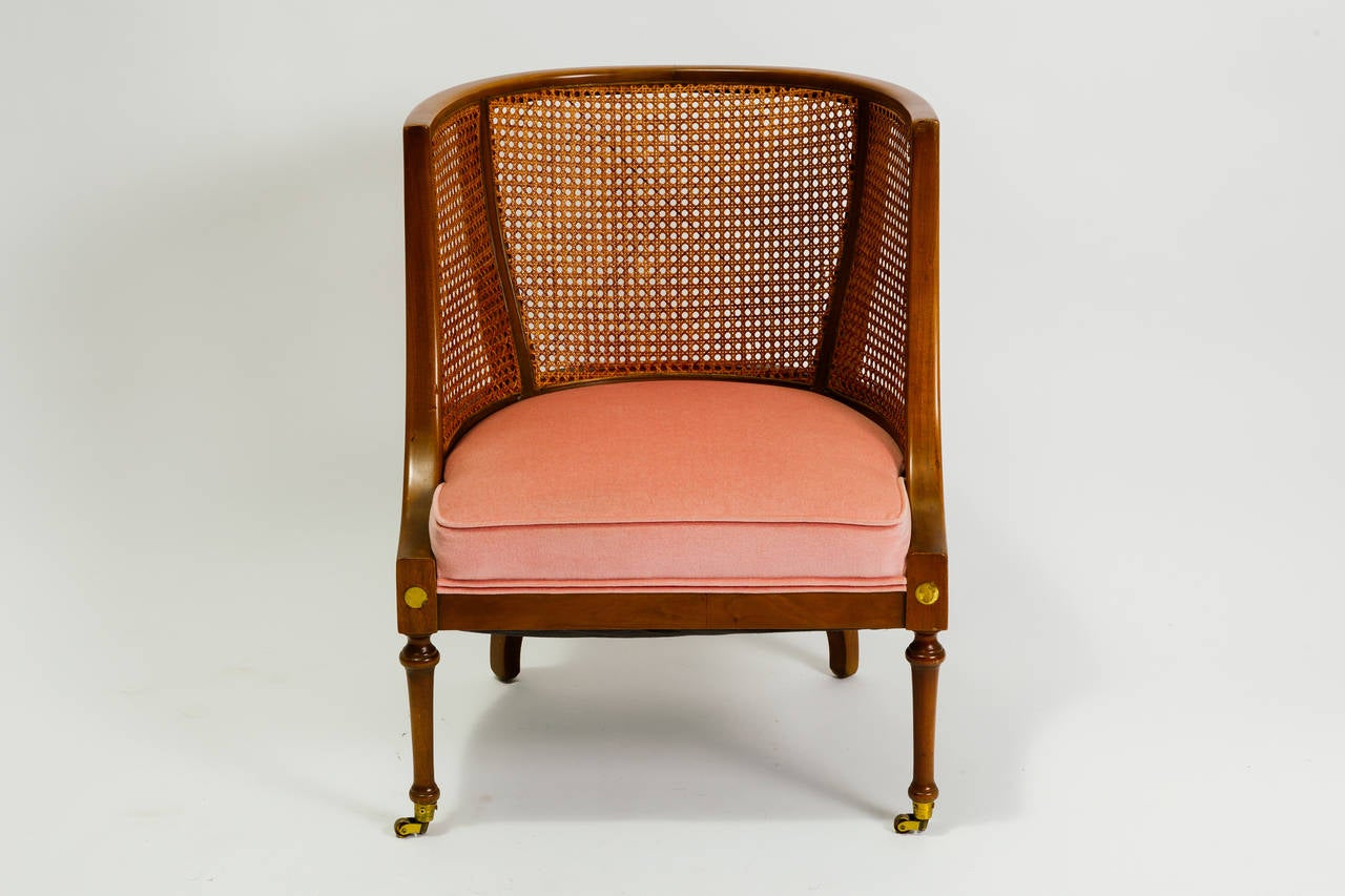 Regency style caned lounge chair by bert england at stdibs
