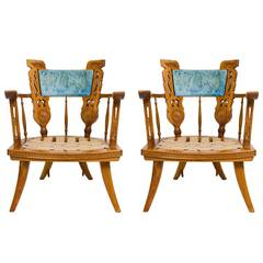 Pair of Southwest Ranch Lounge Chairs