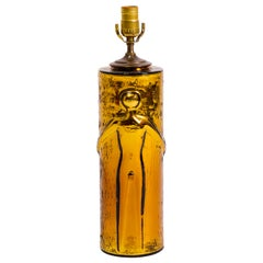 Glass Nude Figural Lamp