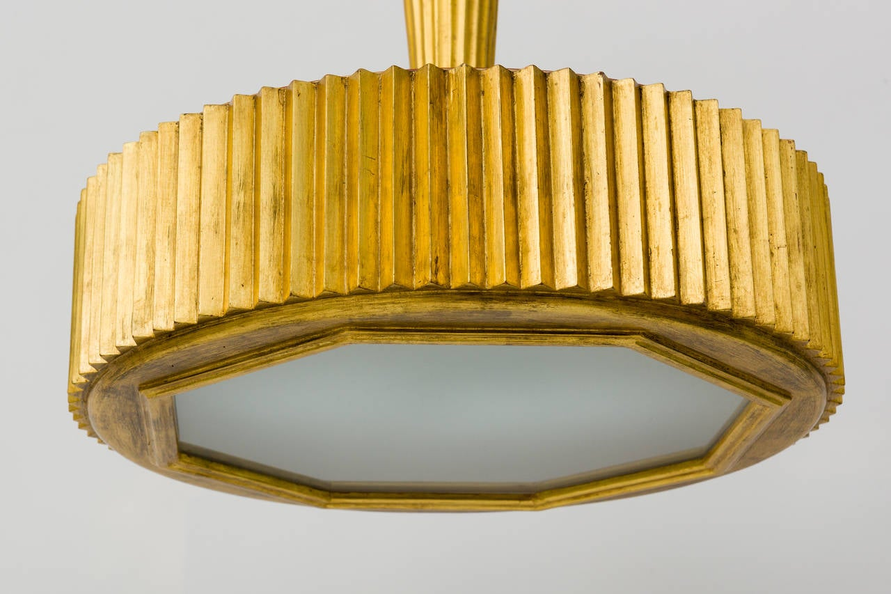 Large Hand Carved Wood And Gold Leaf Chandelier For Sale At 1stdibs