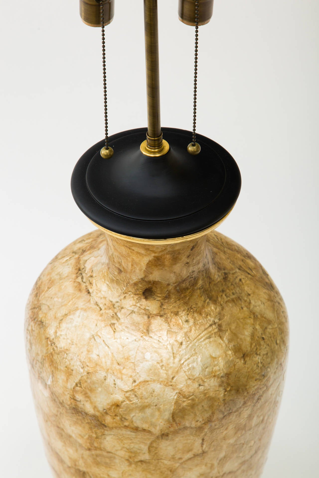 Large Capiz Shell Lamp For Sale 2