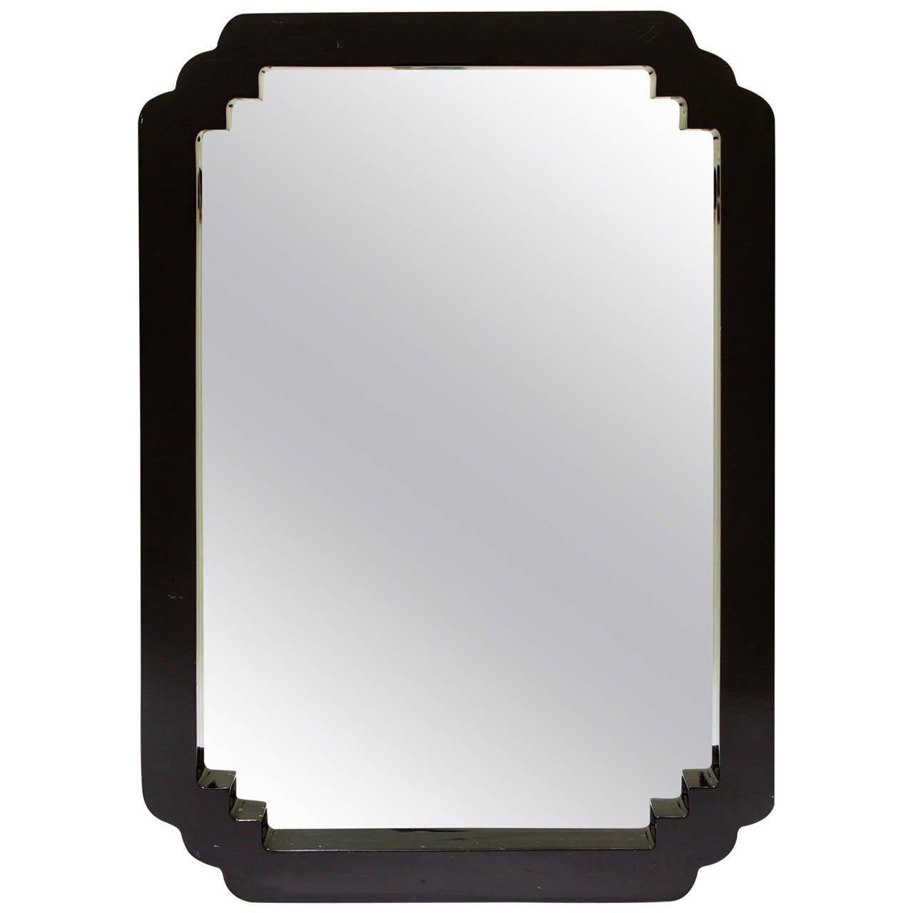 Asian style lacquered wood wall mirror at 1stdibs for Asian style mirror