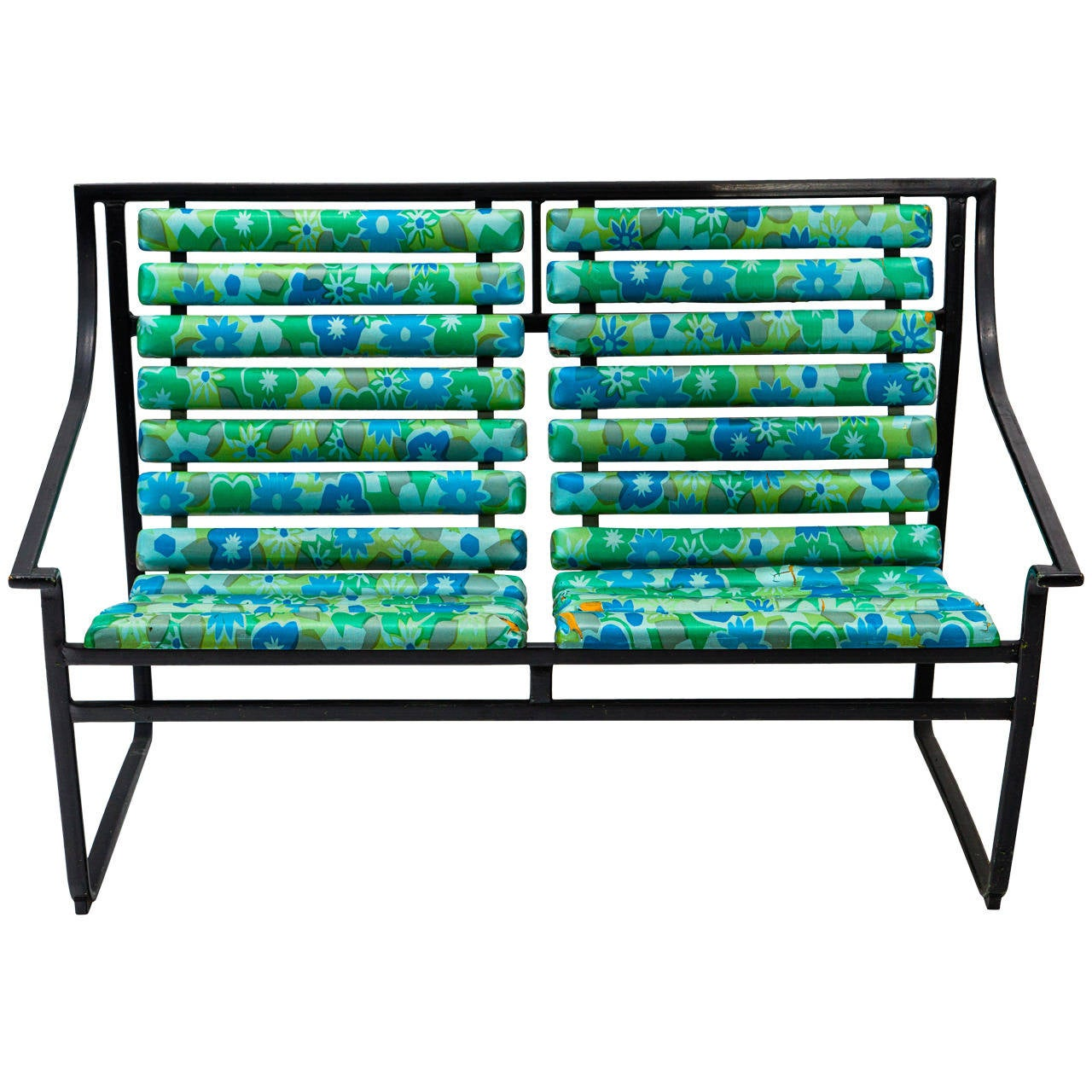 Tubular Steel Patio Settee or Bench by Samsonite at 1stdibs