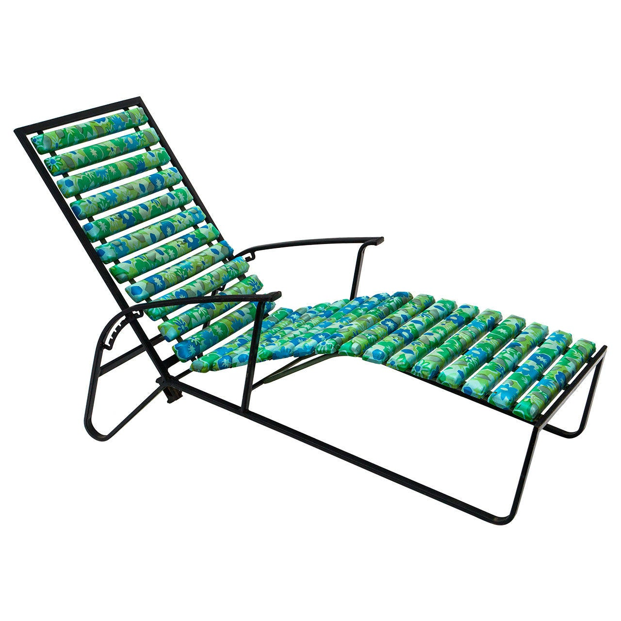 Awesome Tubular Steel Patio Reclining Lounge Chair By Samsonite 1