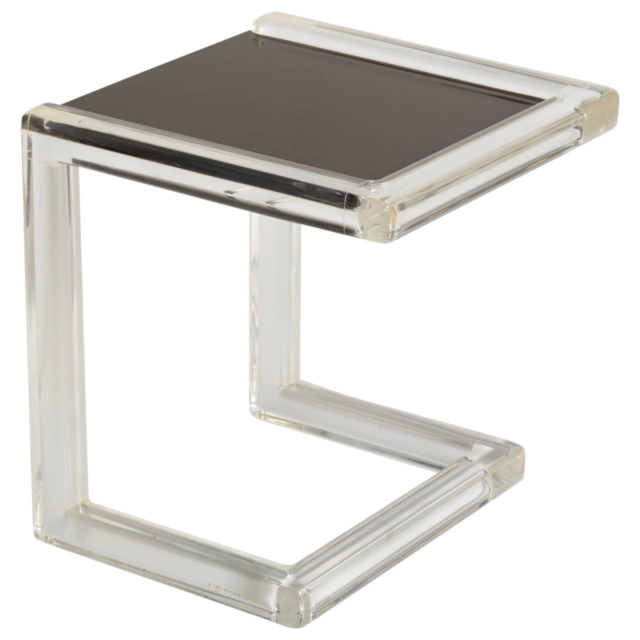 Les Prismatiques Lucite Side Table At 1stdibs