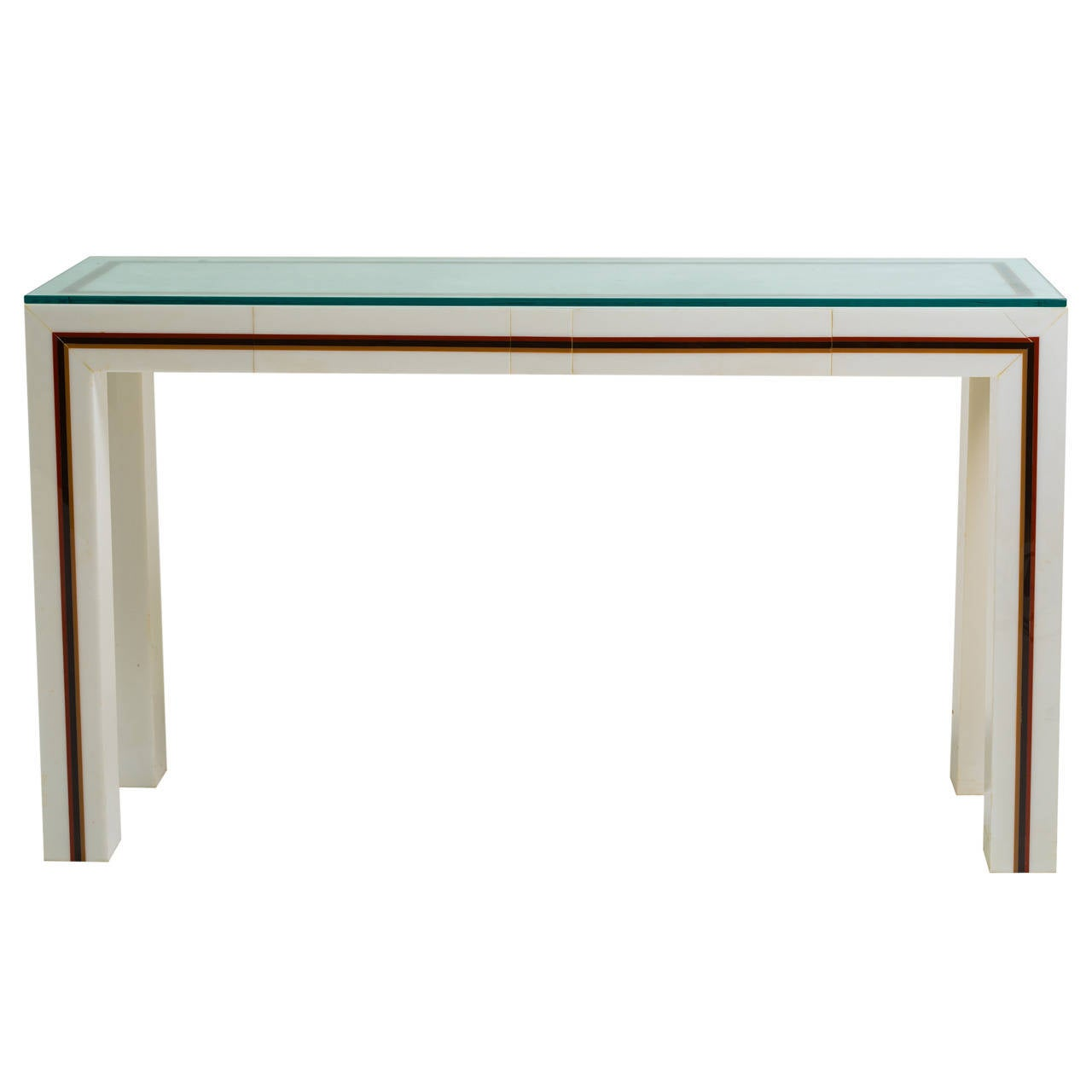 Custom made plastic console table for sale at 1stdibs custom made plastic console table 1 geotapseo Choice Image