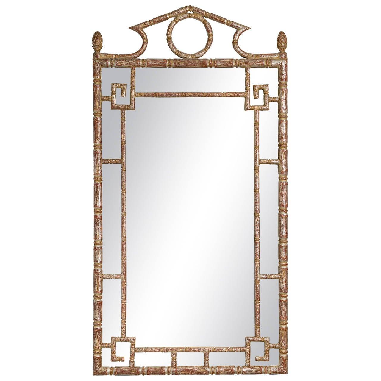 Wood greek key mirror for sale at 1stdibs jeuxipadfo Gallery