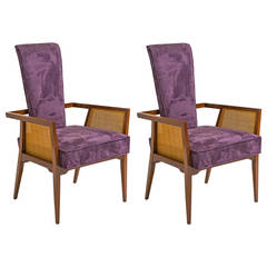 Pair of Sculptural James Mont Style Lounge Chairs