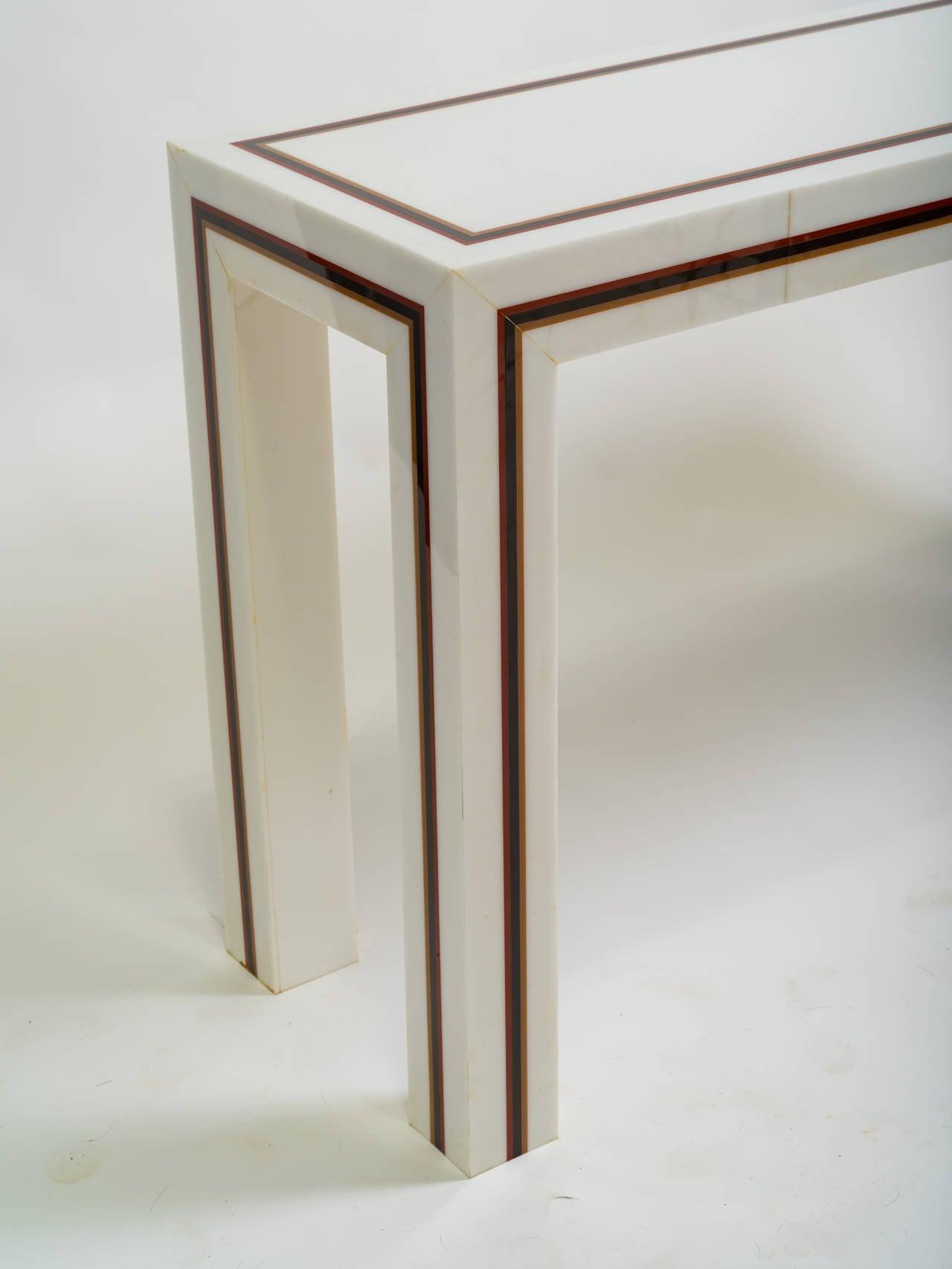 Plastic console table acrylic console table design shop for Consolle plexiglass design
