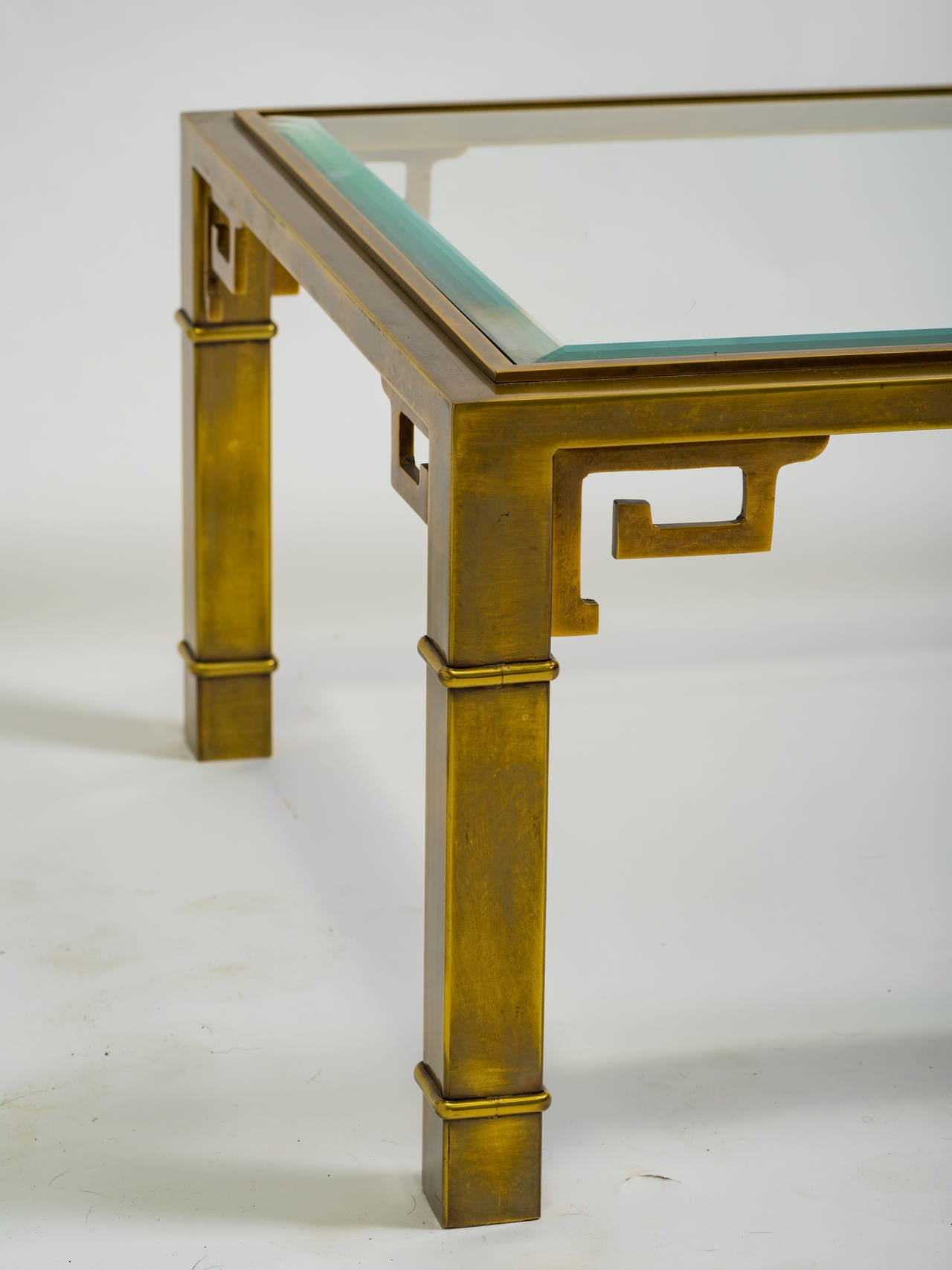 Mastercraft Brass Greek Key Coffee Table 2