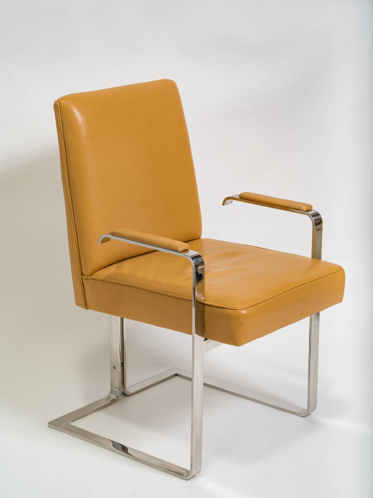 Vladimir Kagan Chrome and Leather Chair For Sale 1