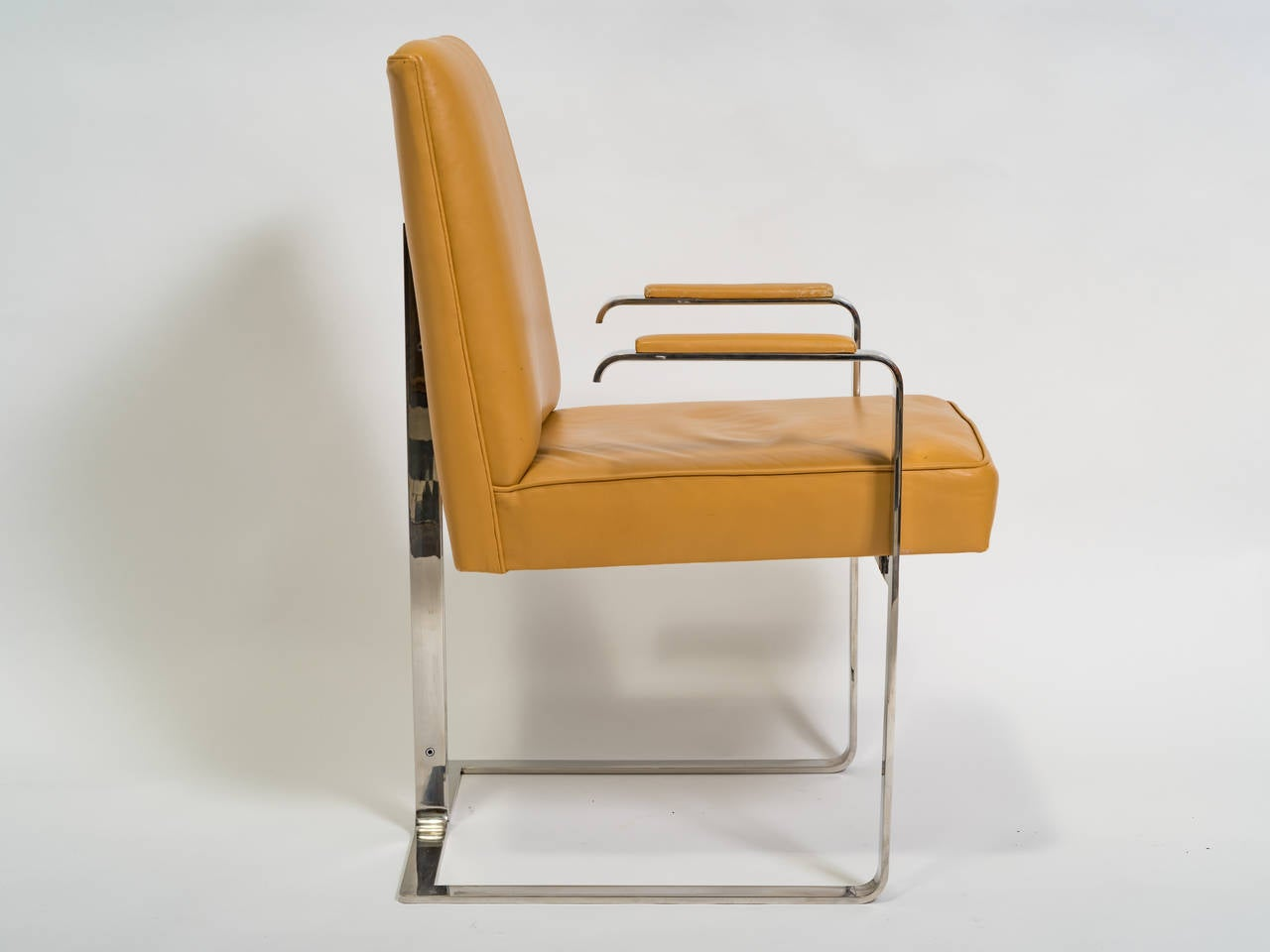 Vladimir Kagan Chrome and Leather Chair For Sale 2