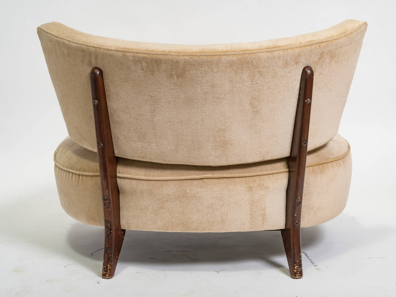 Pair of Midcentury Oversized Chairs at 1stdibs