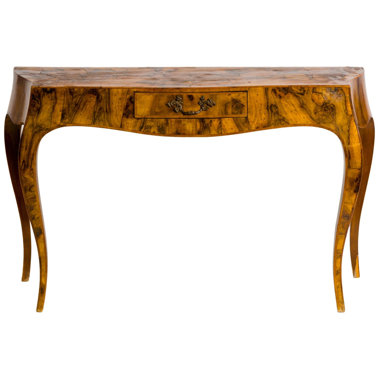 Italian Olive Wood Console Table At 1stdibs