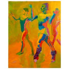 Modern Oil of Dancers