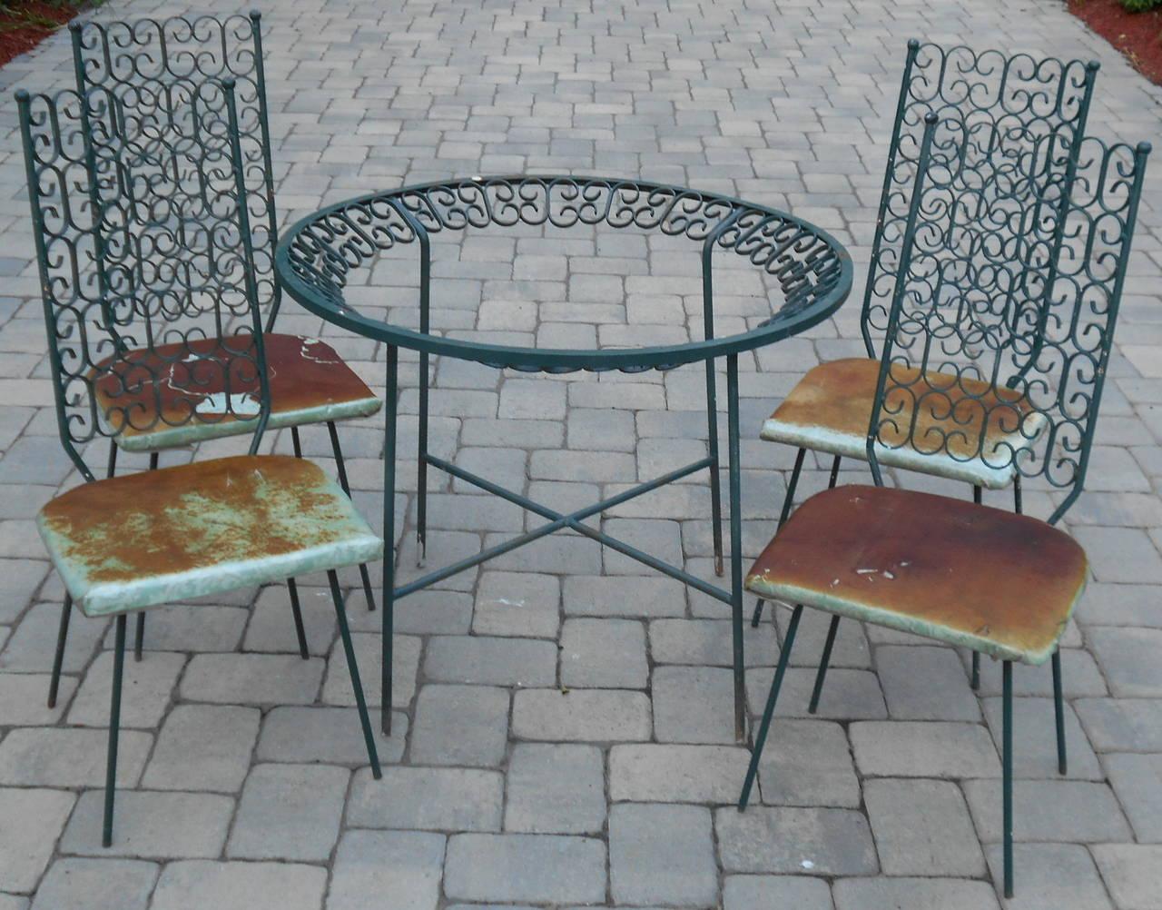 Arthur Umanoff for Salterini Patio Set For Sale at 1stdibs