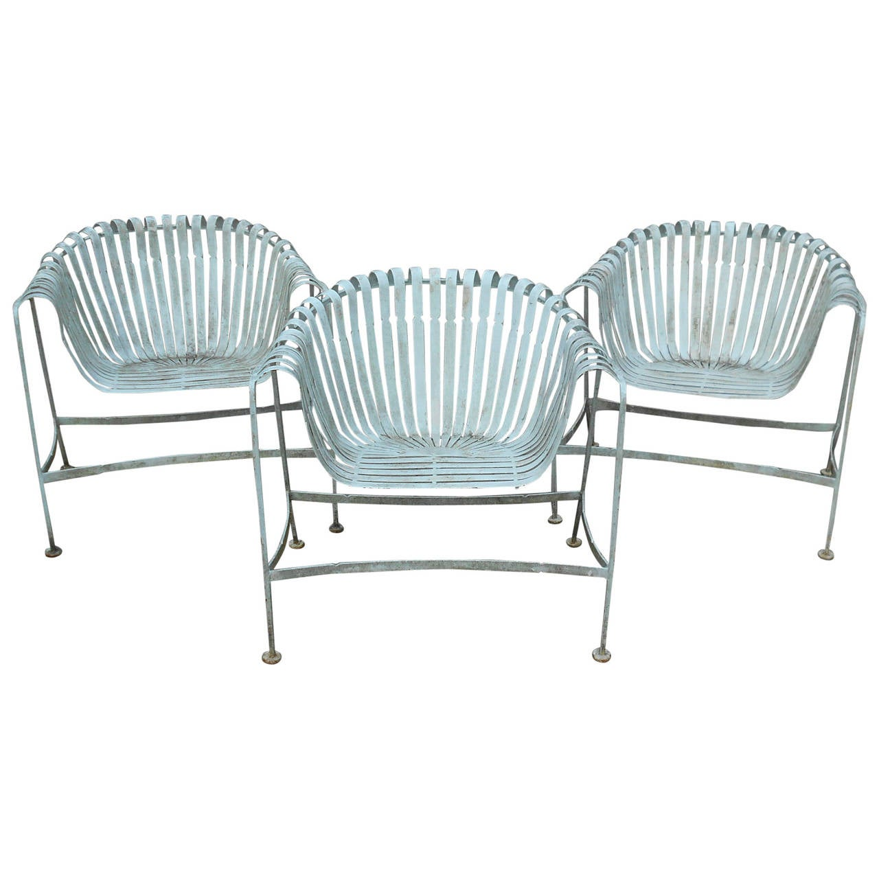 Sculptural russell woodard patio lounge chairs at 1stdibs for Woodard outdoor furniture