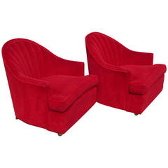 Pair of Channel Back Lounge Chairs by Kroehler