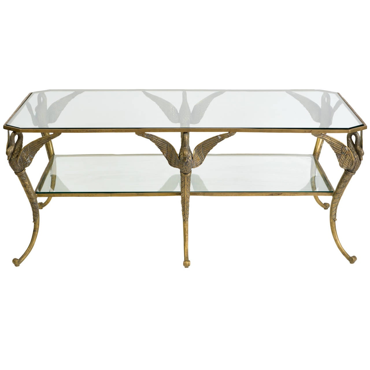 Bronze classical swan coffee table for sale at 1stdibs bronze classical swan coffee table 1 geotapseo Image collections