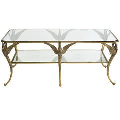 Bronze Classical Swan Coffee Table