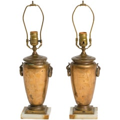 Pair of Classical Bronze Urn Lamps