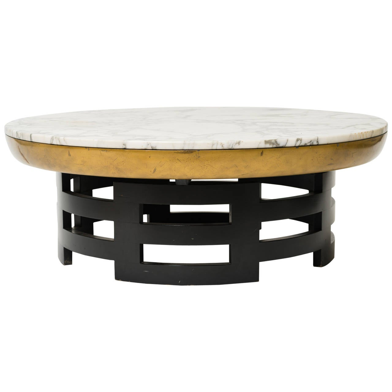 Kittinger lotus coffee table with marble top at 1stdibs Coffee tables with marble tops