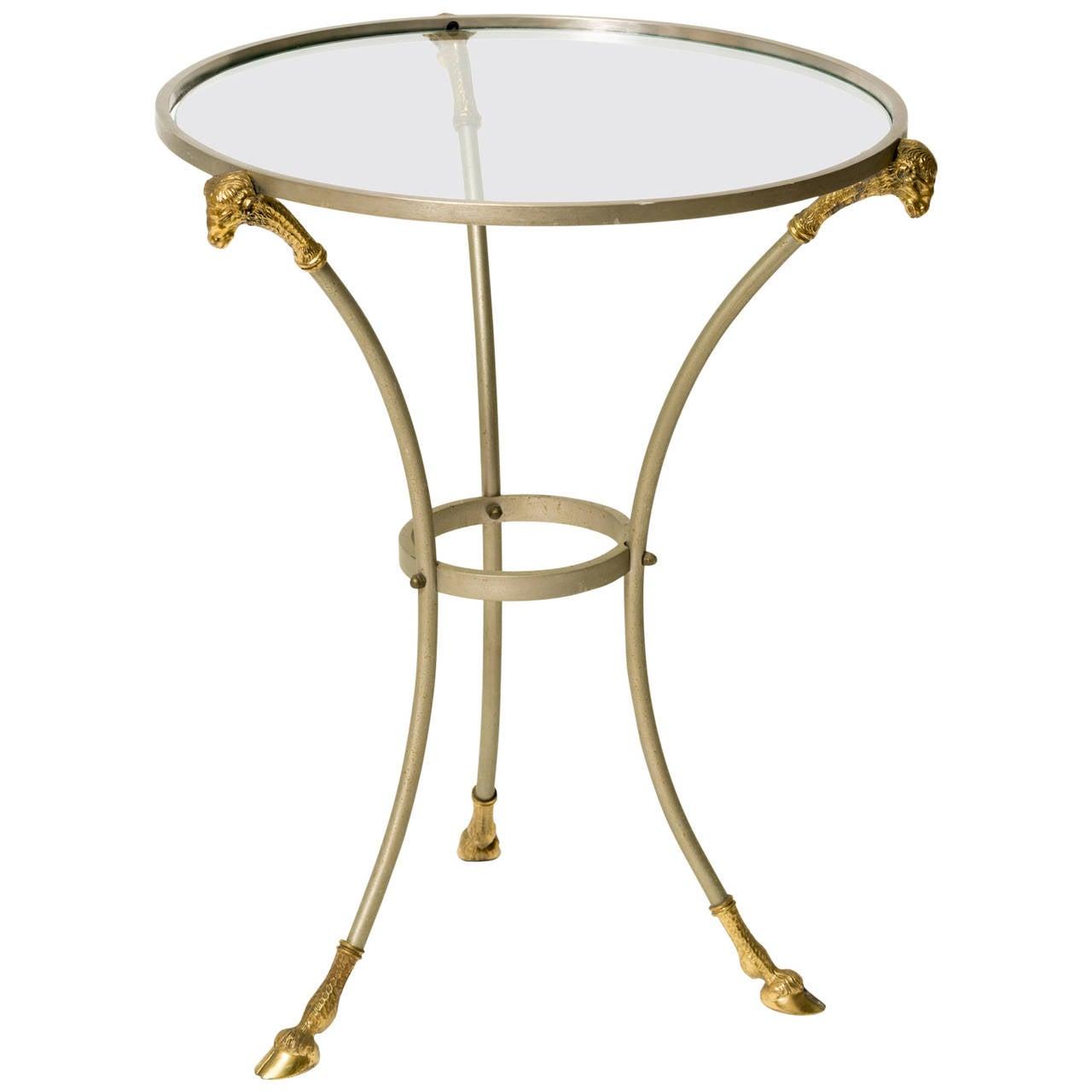 Italian ram gueridon table in the style of maison jansen for Table gueridon