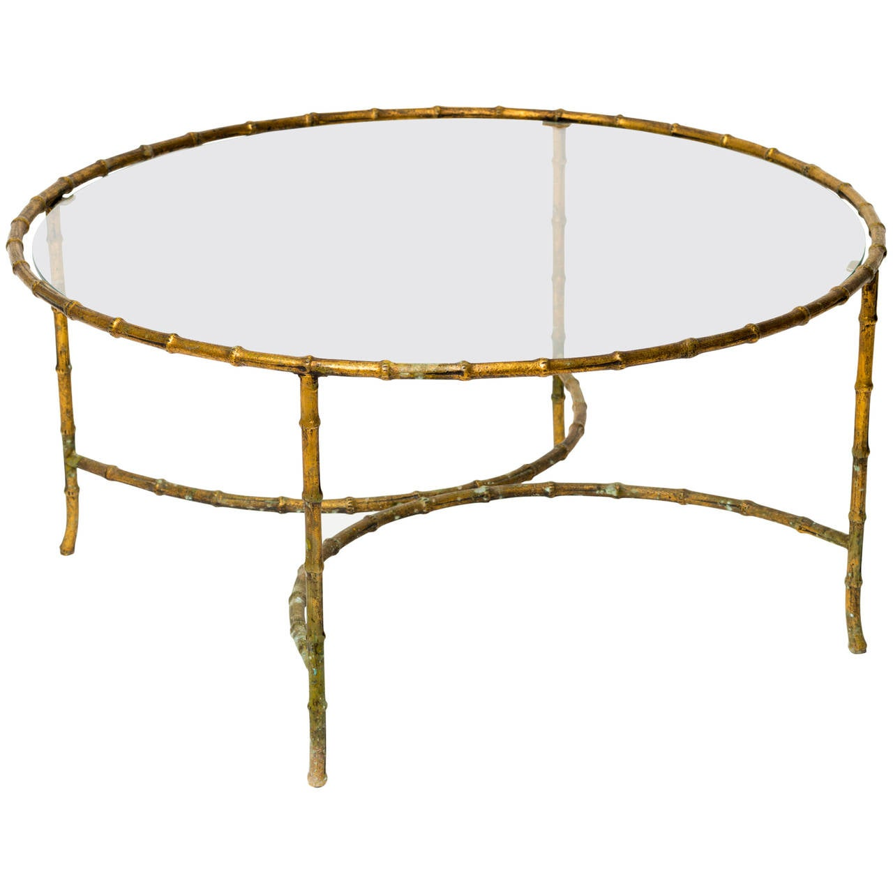 Gilt Iron Faux Bamboo Coffee Table For Sale At 1stdibs