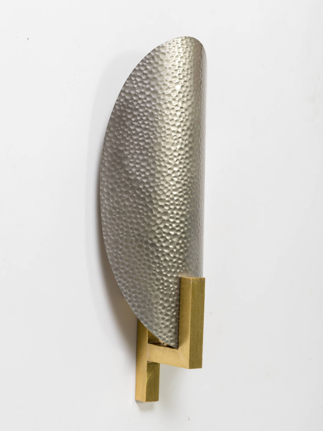 Hammered Copper Wall Sconces : Hammered Metal and Brass Sconces For Sale at 1stdibs