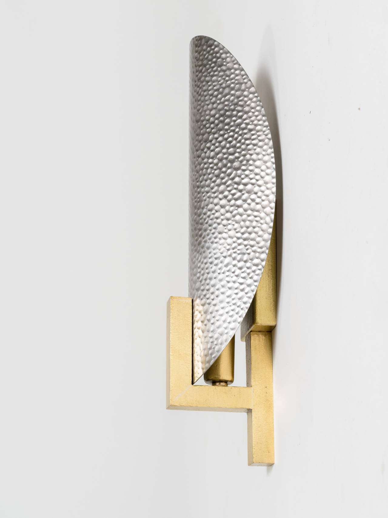 Metal Wall Sconces hammered metal and brass sconces for sale at 1stdibs
