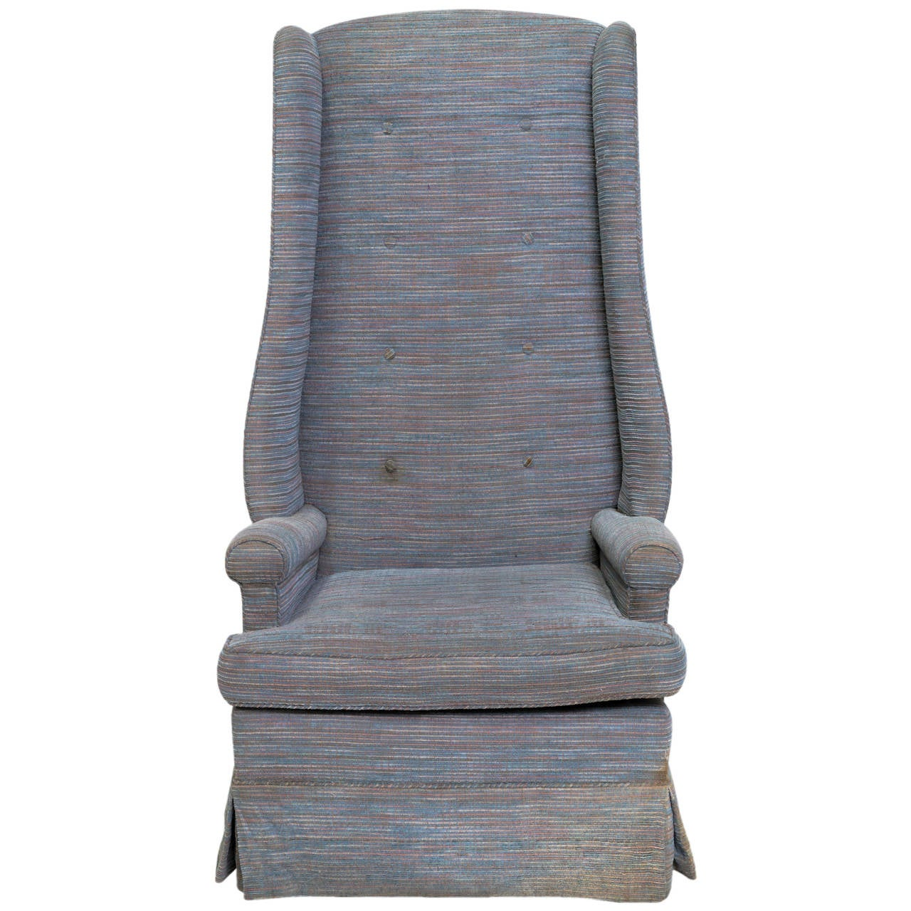 High Back Upholstered Chair For Sale at 1stdibs