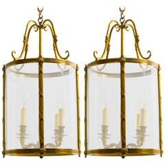 Pair of Bronze Lanterns