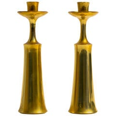 Pair of Brass Candlesticks by Jens Quistgaard for Dansk