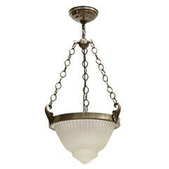 Art Deco Style  Molded Glass Hanging Light Fixture