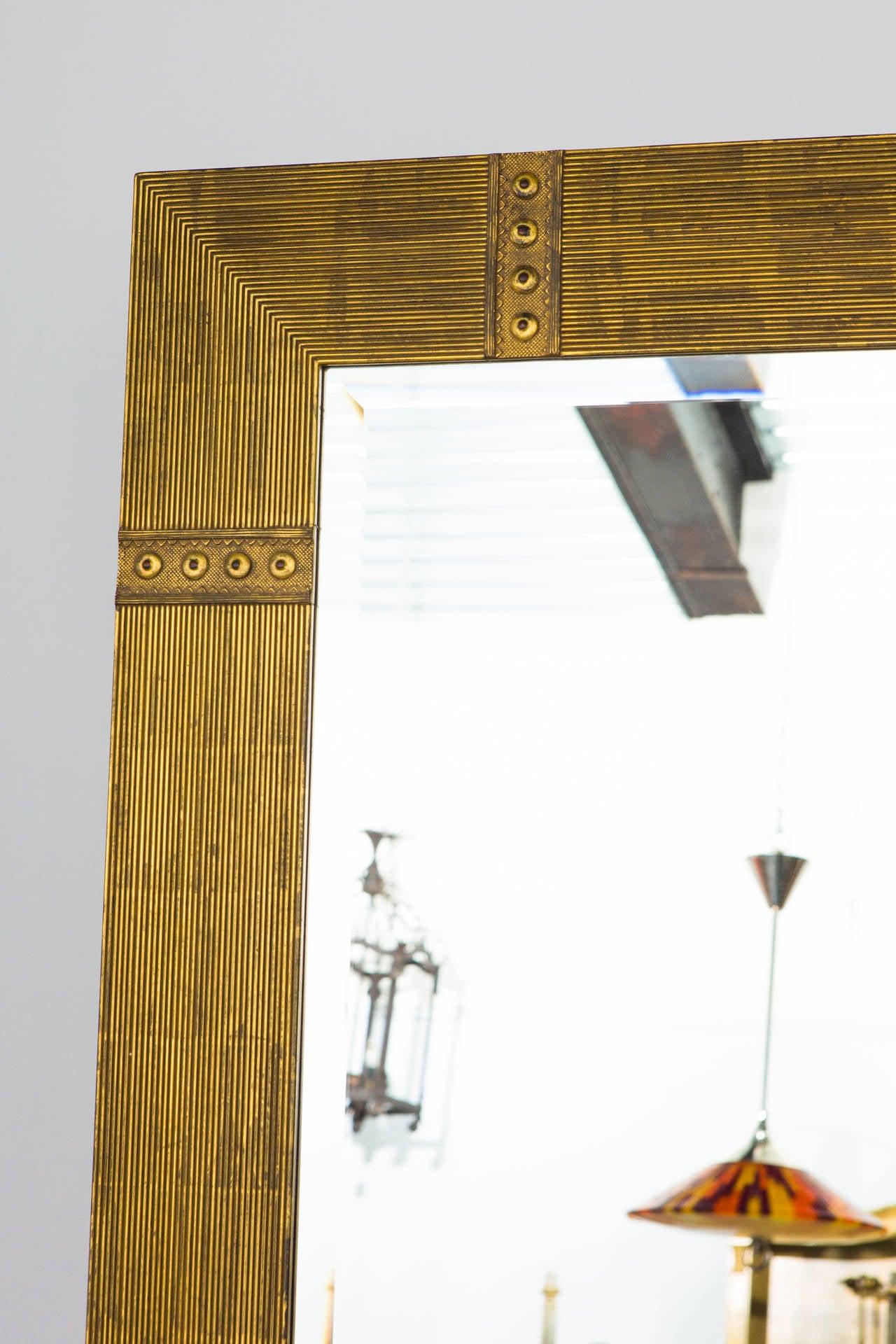 Large Custom Made Gilded Beveled Mirror 6 Feet High At 1stdibs