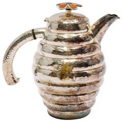 Emilia Castillo Sterling Bumble Bee Hive Teapot