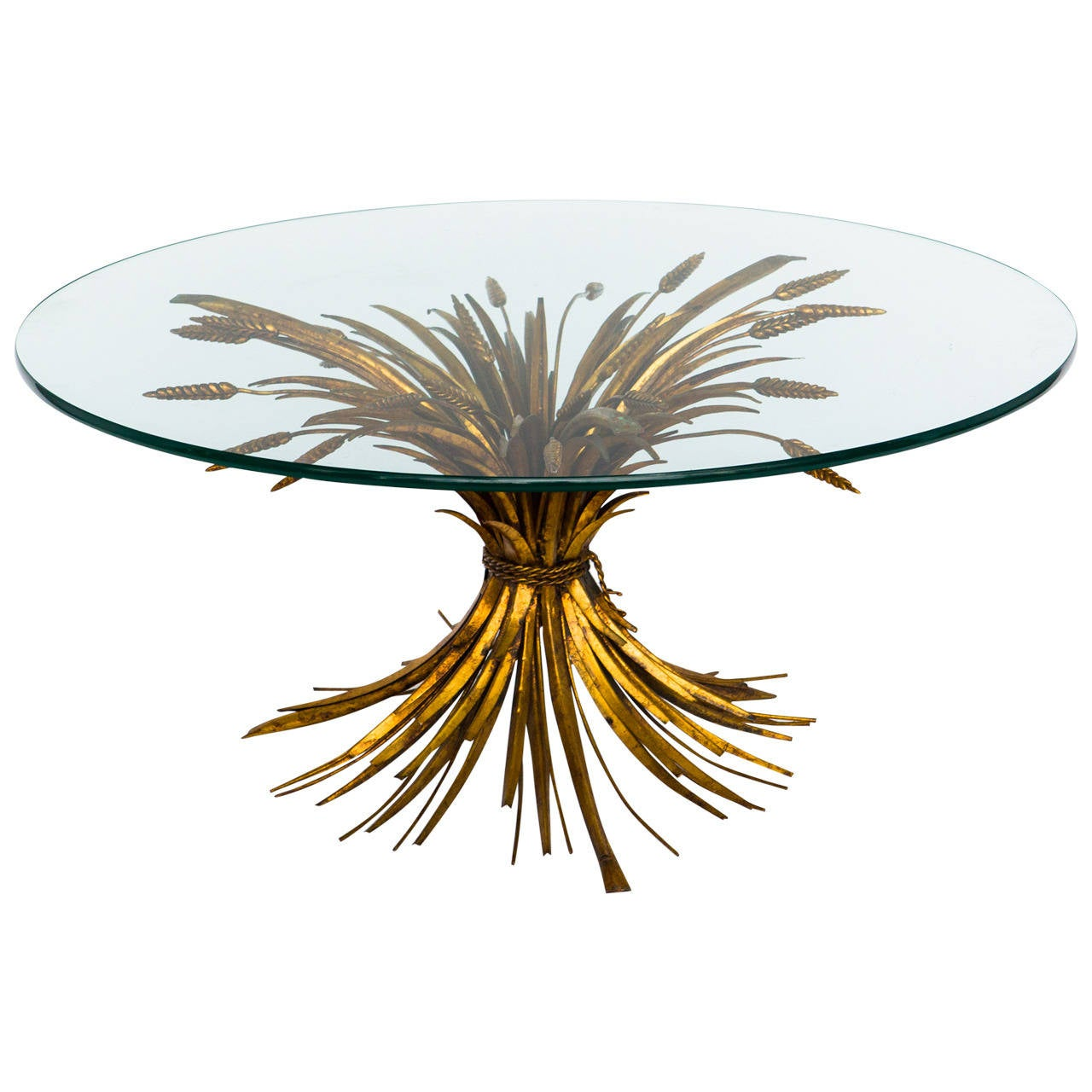 Italian Gilt Wheat Coffee Table At 1stdibs