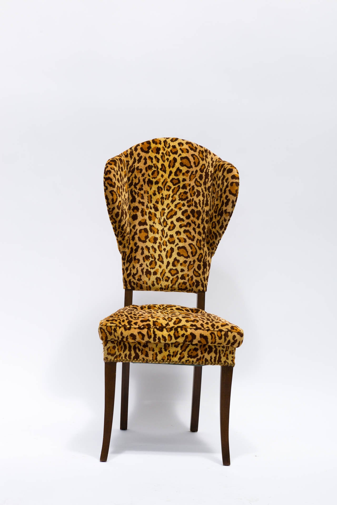 Pair Mid Century Leopard Print Occasional Chairs at 1stdibs