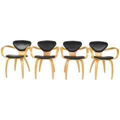 Norman Cherner Pretzel Chairs for Plycraft