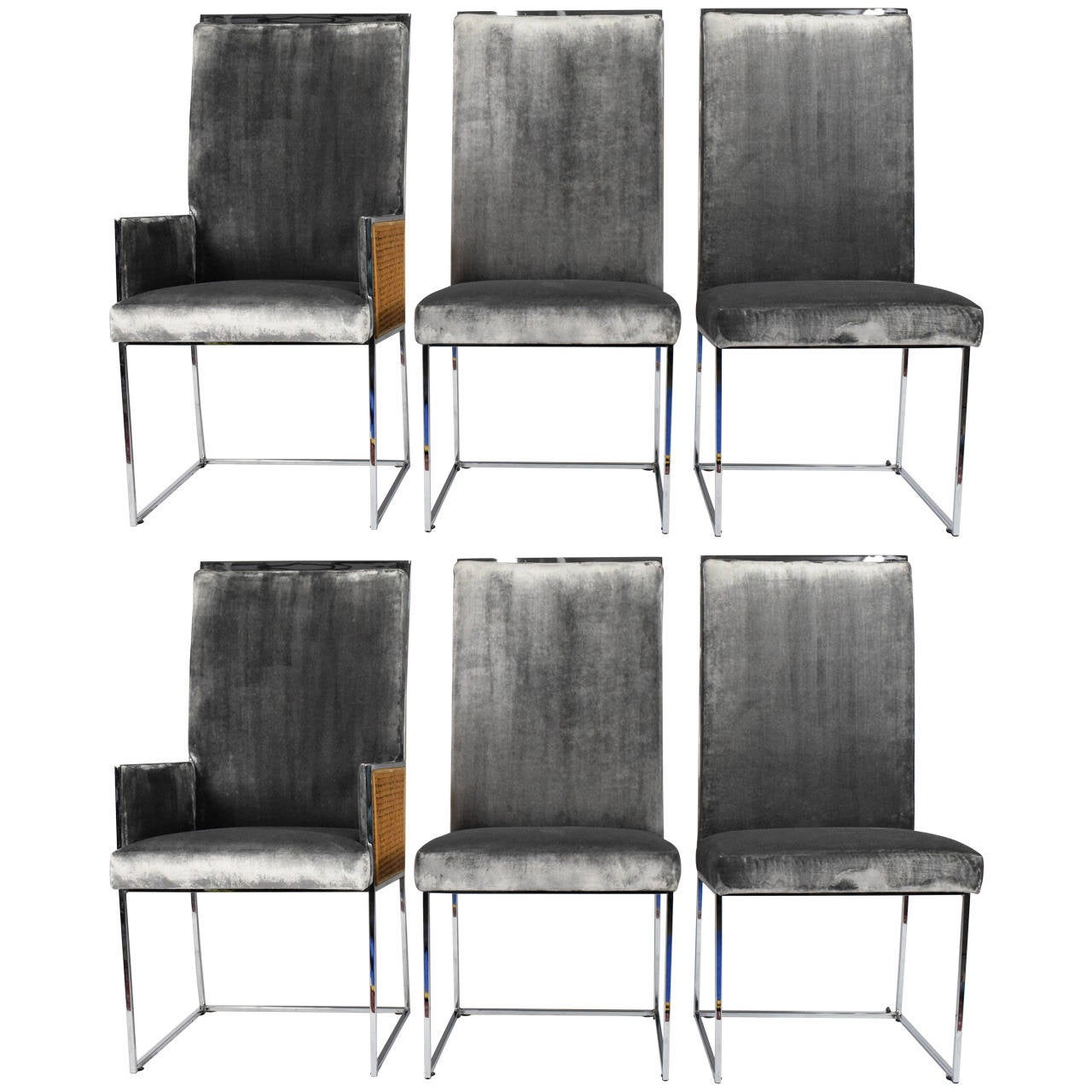 Six Milo Baughman For Thayer Coggin Dining Chairs 1