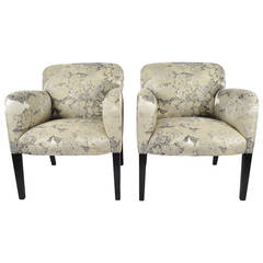 "Donghia ""Norway"" Club Chairs in Donghia ""Edith"" Fabric"