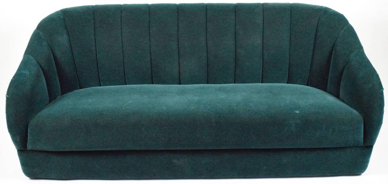 ward bennett for brickell channel back sofa in mohair 2