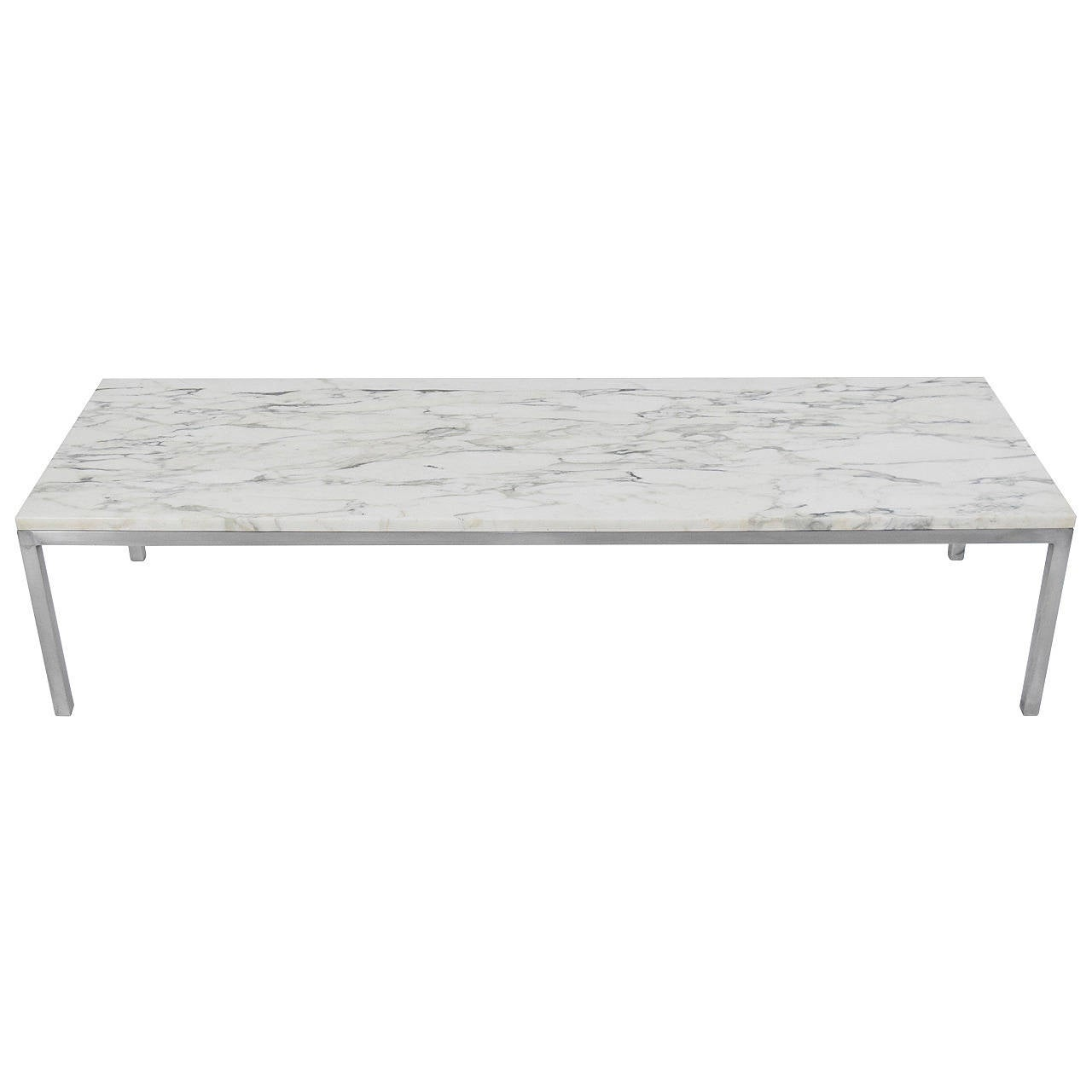 MarbleTop Florence Knoll Coffee Table at 1stdibs