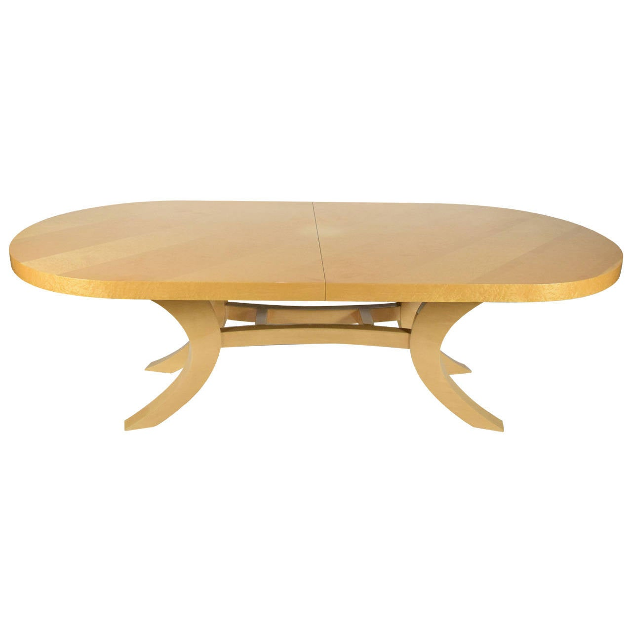 Dakota jackson splayed leg dining table at 1stdibs for One leg dining table