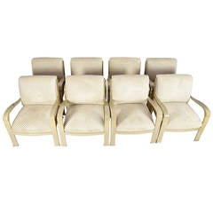 Pair Of B3 White Leather Lounge Chairs By Fabien Baron For